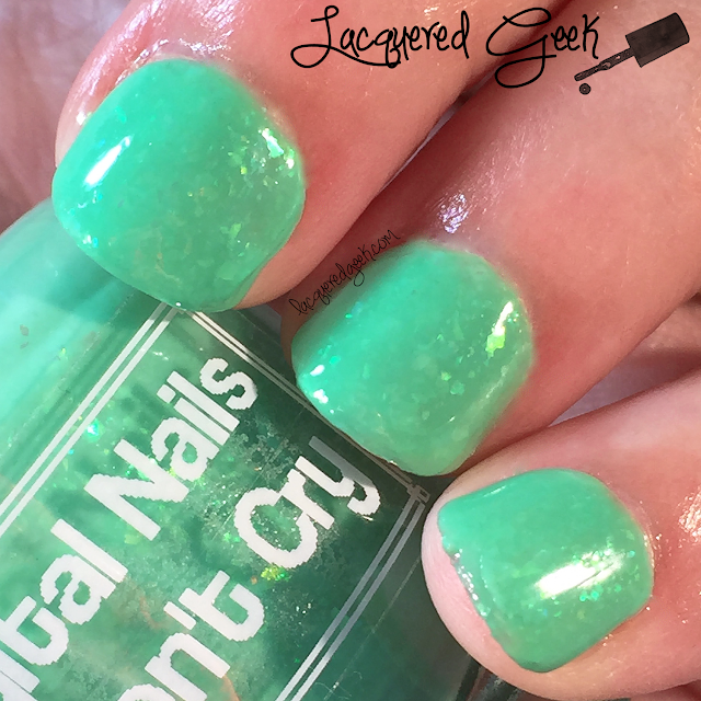 Digital Nails Fish Don't Cry nail polish swatch from Lacquered Geek