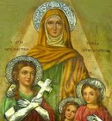 Η ΑΓΙΑ ΣΟΦΙΑ και οι Κόρες της, Πίστη, Ελπίδα και Αγάπη