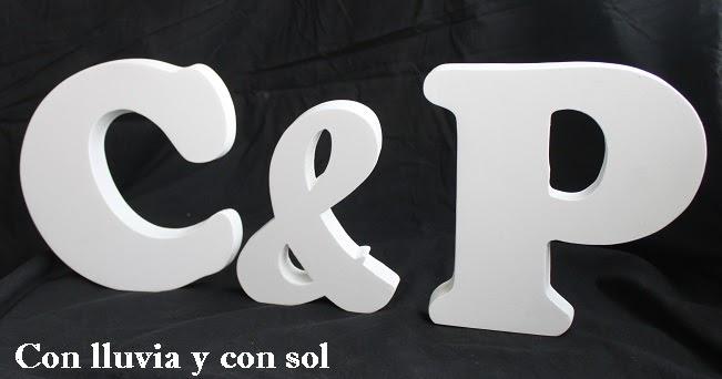 Con lluvia y con sol letras decorativas de madera para la boda de pili - Letras de madera decorativas ...
