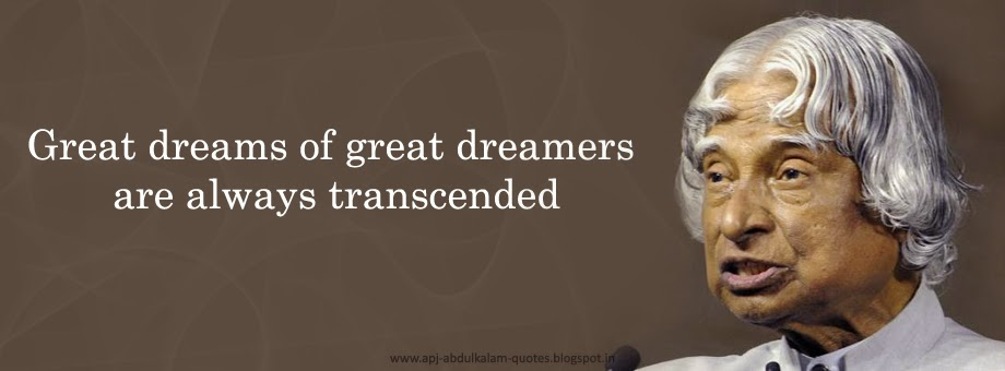 APJ Abdul Kalam Quotes About Dreams