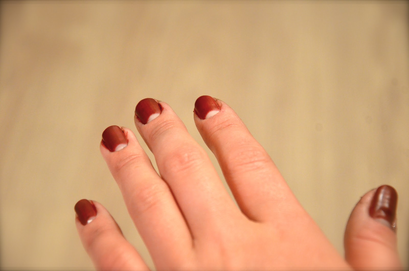 reindeer rumors: red matte nails with a twist