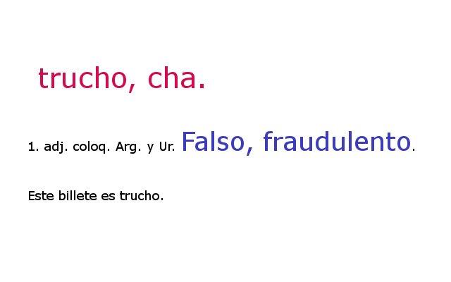 DEFINICIÓN DE TRUCHO