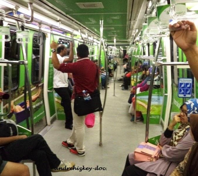 Inside LRT Kuala Lumpur
