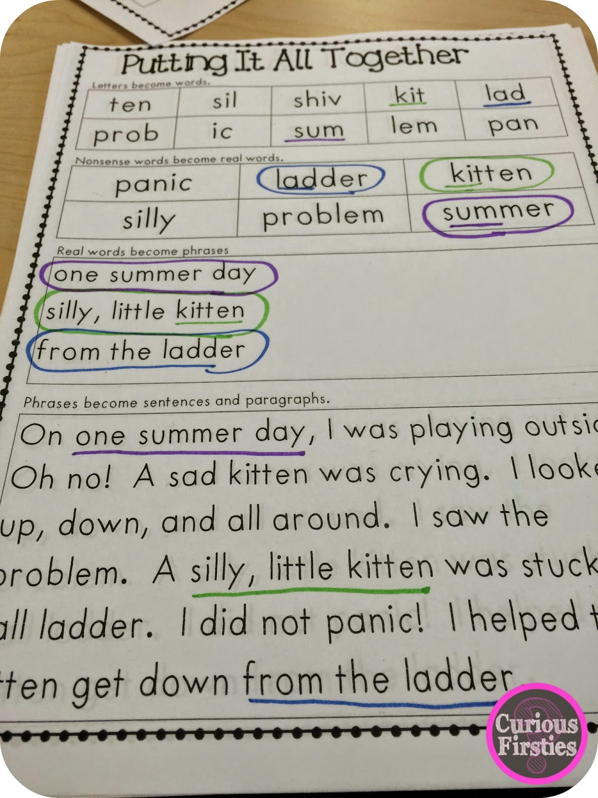 https://www.teacherspayteachers.com/Product/Letters-Words-Sentences-Putting-it-Together-1948469