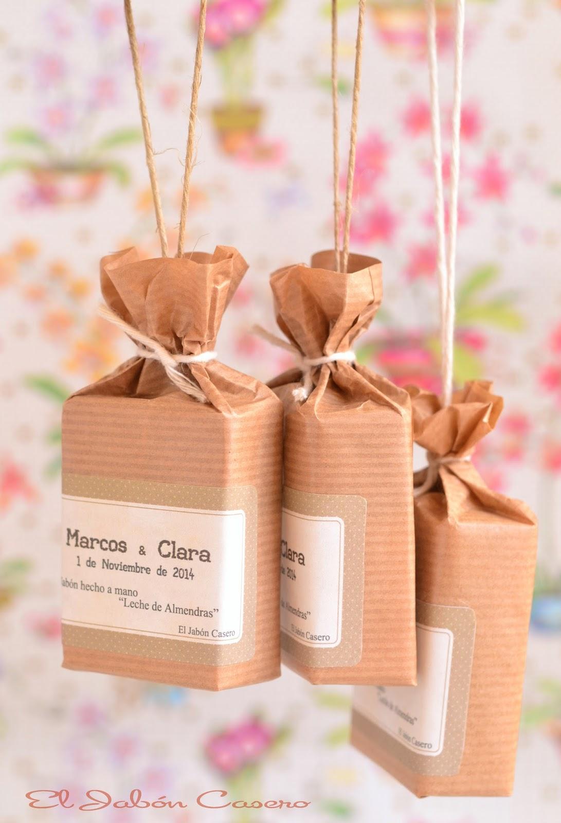 Detalles naturales para invitados de bodas