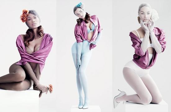 Calendrier sexy des anges de victoria's secret pour VMAN