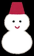 天気のマーク「雪・雪だるま」
