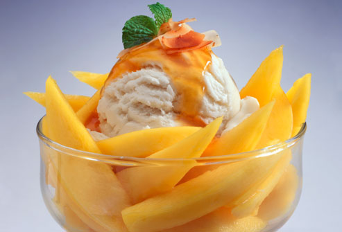 Delicious ice cream: Mango ice-cream