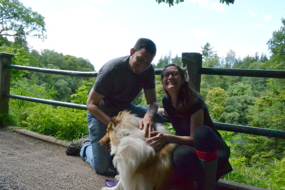 rough collie dog family portrait new lanark falls of clyde