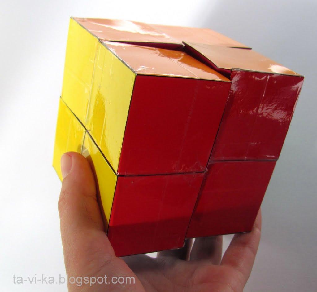 Как сделать из бумаги кубик трансформер