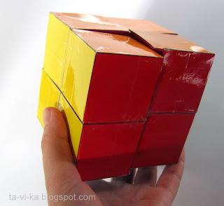 головоломка куб Йошимото из бумаги