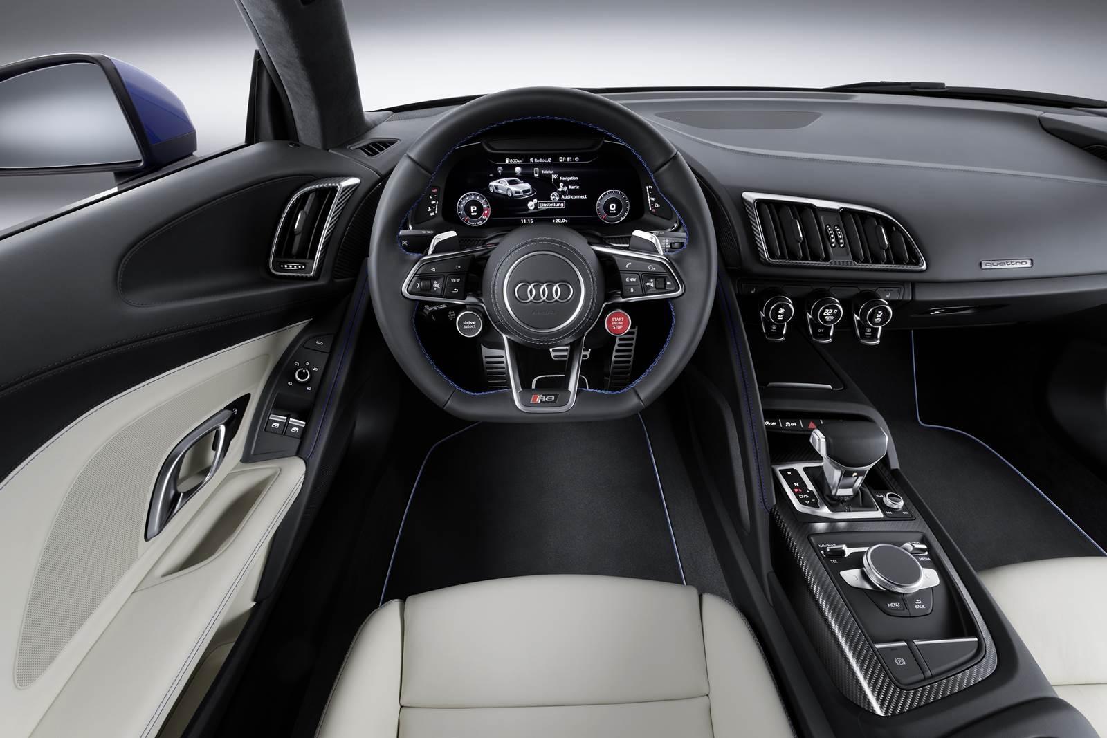 Novo Audi R8 2016 - interior