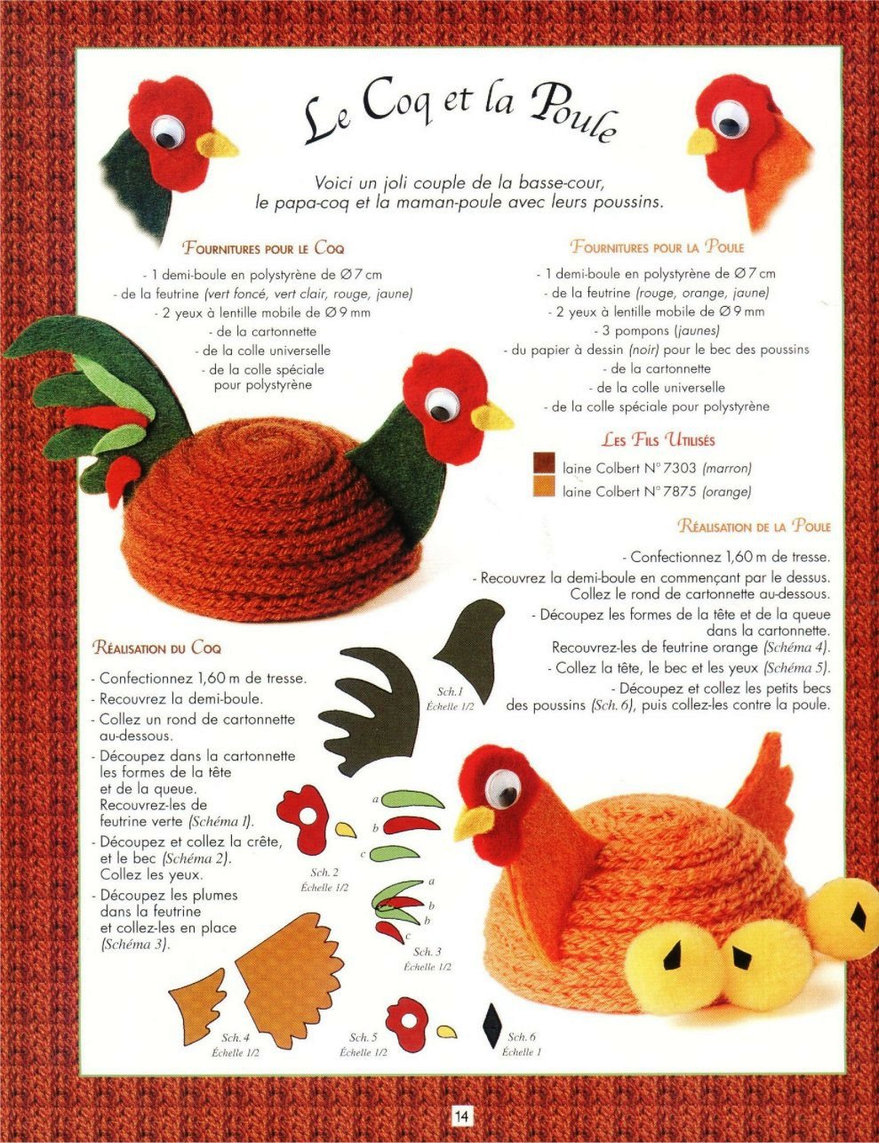 galinha em crochet