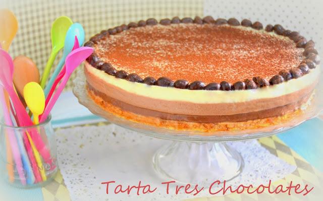 Tarta Tres Chocolates. Con y sin Thermomix