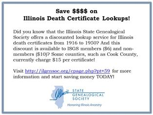 Illinois Death Certificate Lookup Service