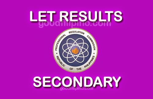 LET Results (August 2014) - Secondary Level