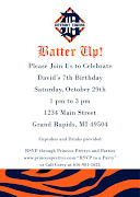A Detroit baseball fan, David requested a Detroit Tigers themed event.