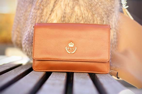 Ralph Lauren Brown Leather Clutch
