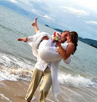 Fotos de namorados na água
