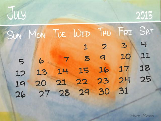 July, 2015 Calendar