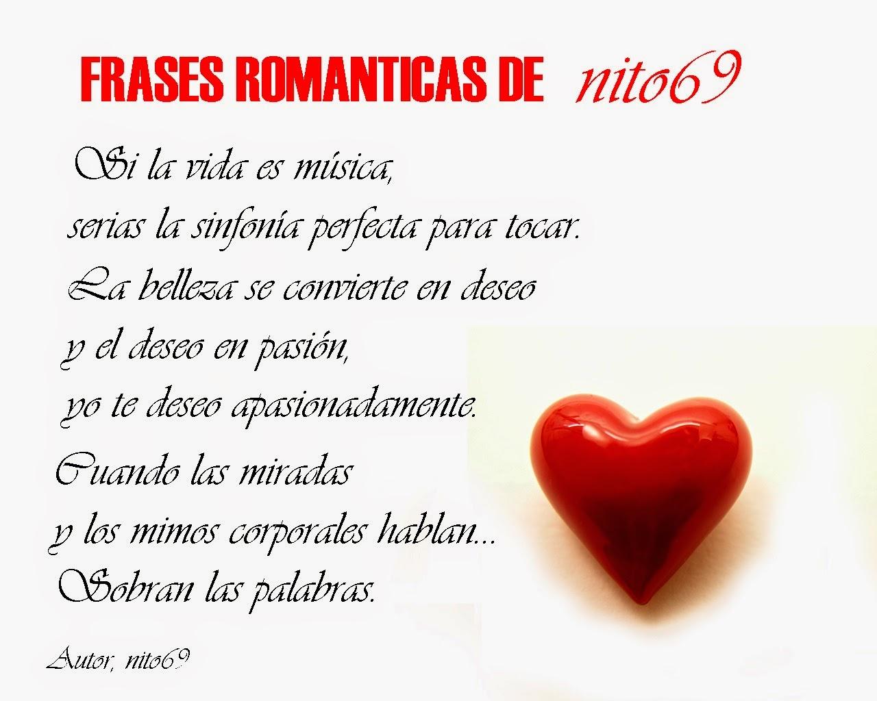 FRASES ROMANTICAS DE nito69