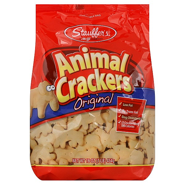 Stauffers Frosted Animal Crackers Animal crackers. reply