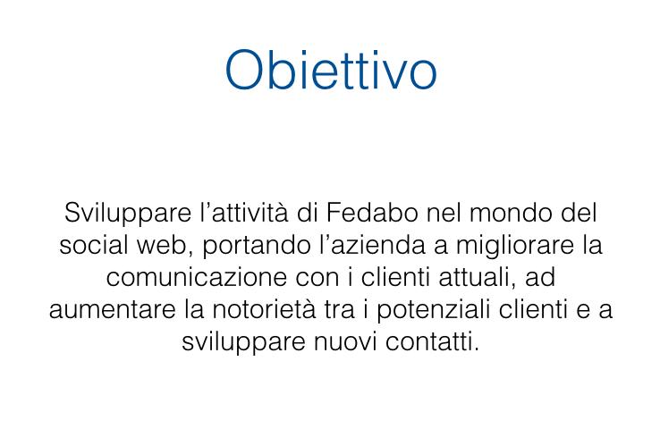 Obiettivo progetto Energia e Social Web Fedabo