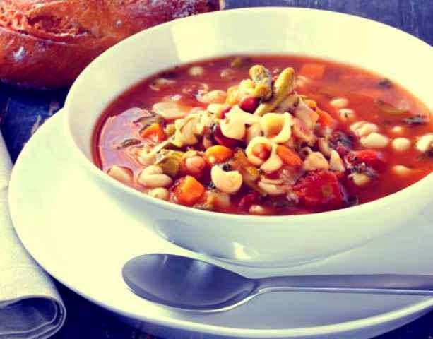 resep sup Minestrone khas italia