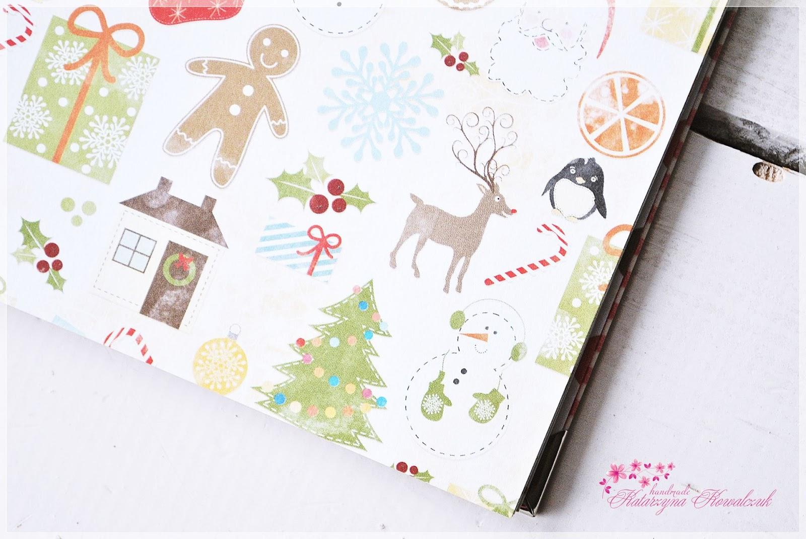 album świąteczny scrapbooking