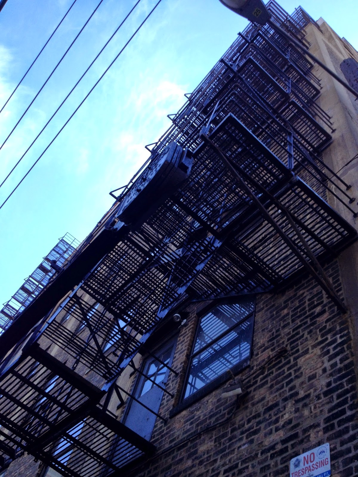Chicago Uptown alley fire escape