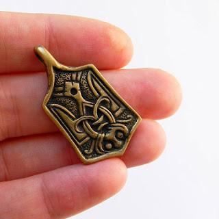 "Кулон ""Трезубец"" украшения из латуни металла подарок"