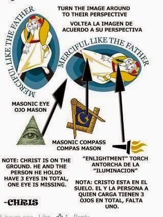 Logo năm Lòng Thương Xót 2015 là Logo của Hội Tam Điểm?