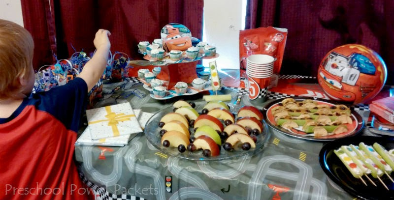 Standing at the party table was magical and I loved watching my son examine everything while we set up! He just couldn\u0027t help touching! & Disney Cars Preschool Party!! | Preschool Powol Packets