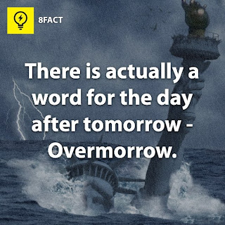 There is actually a word for the day after tomorrow-Overmorrow.