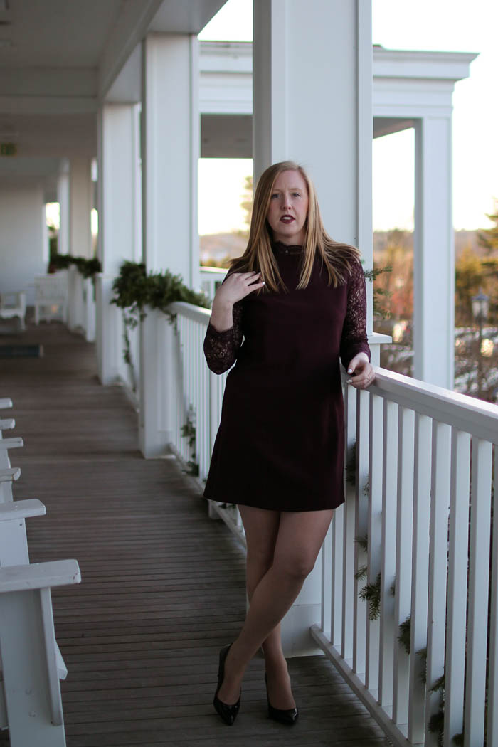 style blogger wentworth by the sea, boston style blog, topshop lace sleeve dress