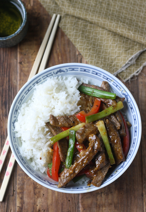 Sichuan Orange Beef stir fry recipe by SeasonWithSpice.com