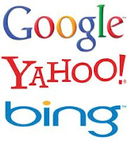 google, yahoo. bing, search engines