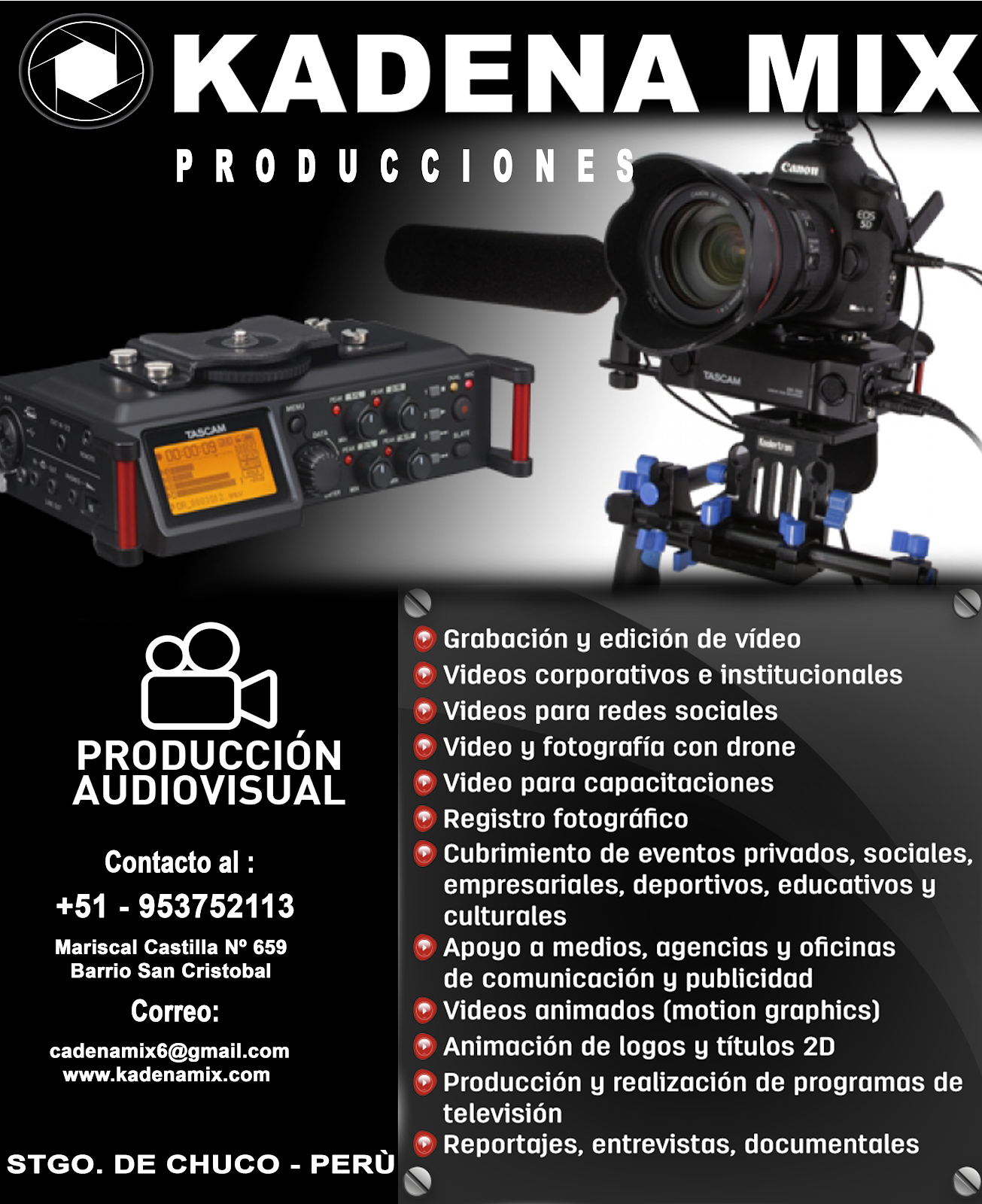 PRODUCTORA AUDIO VISUAL