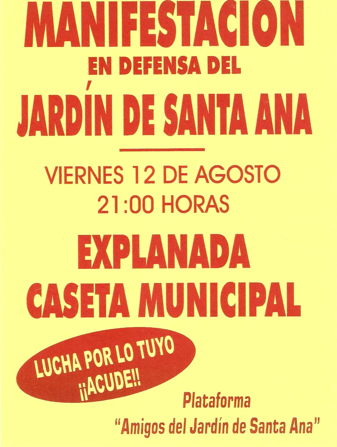Plataforma ciudadana amigos del jard n de santa ana for Amigos del jardin