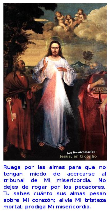 divina misericordia pidiendo oracion por los pecadore