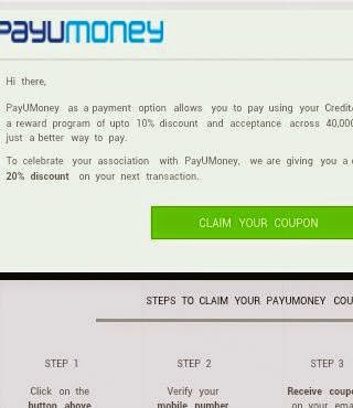 PayUMoney Coupons Mail