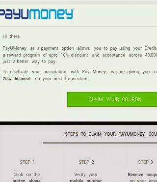 PayUMoney Coupons Mail