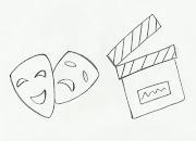 Desenho de máscara de teatro para pintar. Desenho de máscara de teatro para .