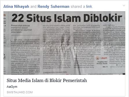 22 situs islam di blokir
