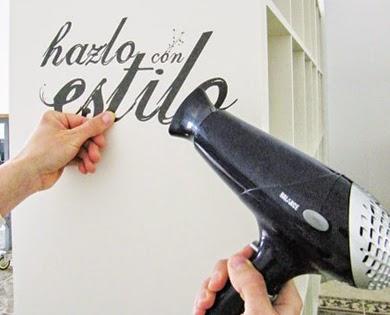 retirar vinilos decorativos, despegar vinilos, vinilos decorativos, decoración con vinilos