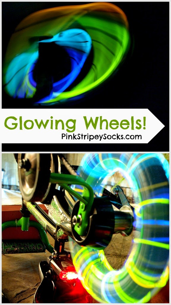 Make your bike's wheels glow- fun art activity for kids!