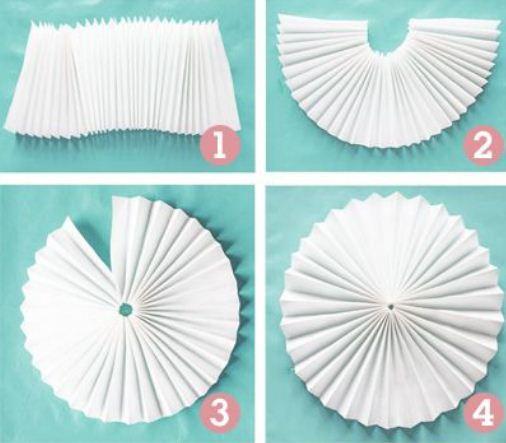 adornos de papel colgantes para fiestas cositasconmesh