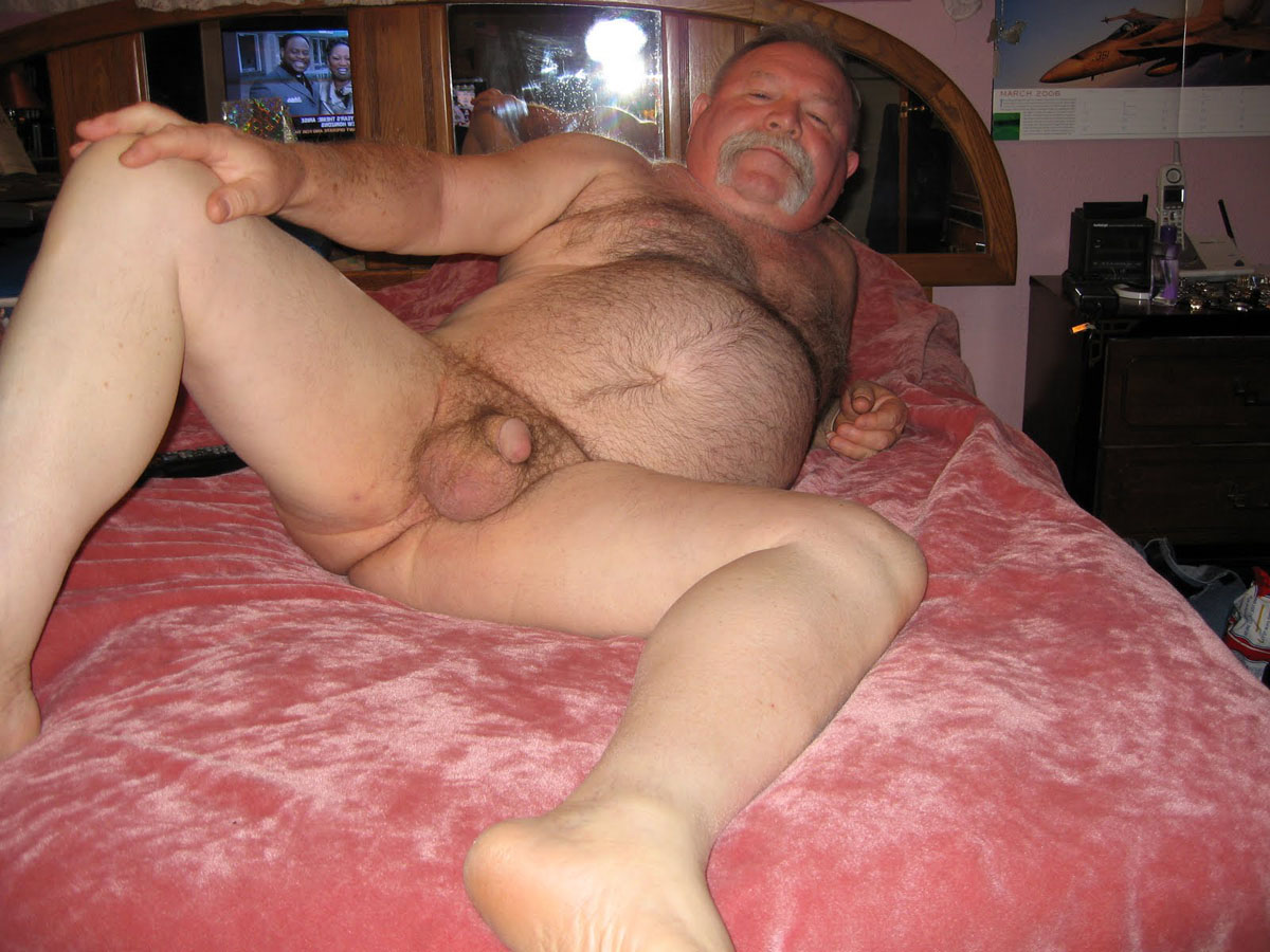 Naked Silver Daddy Chubby Furry