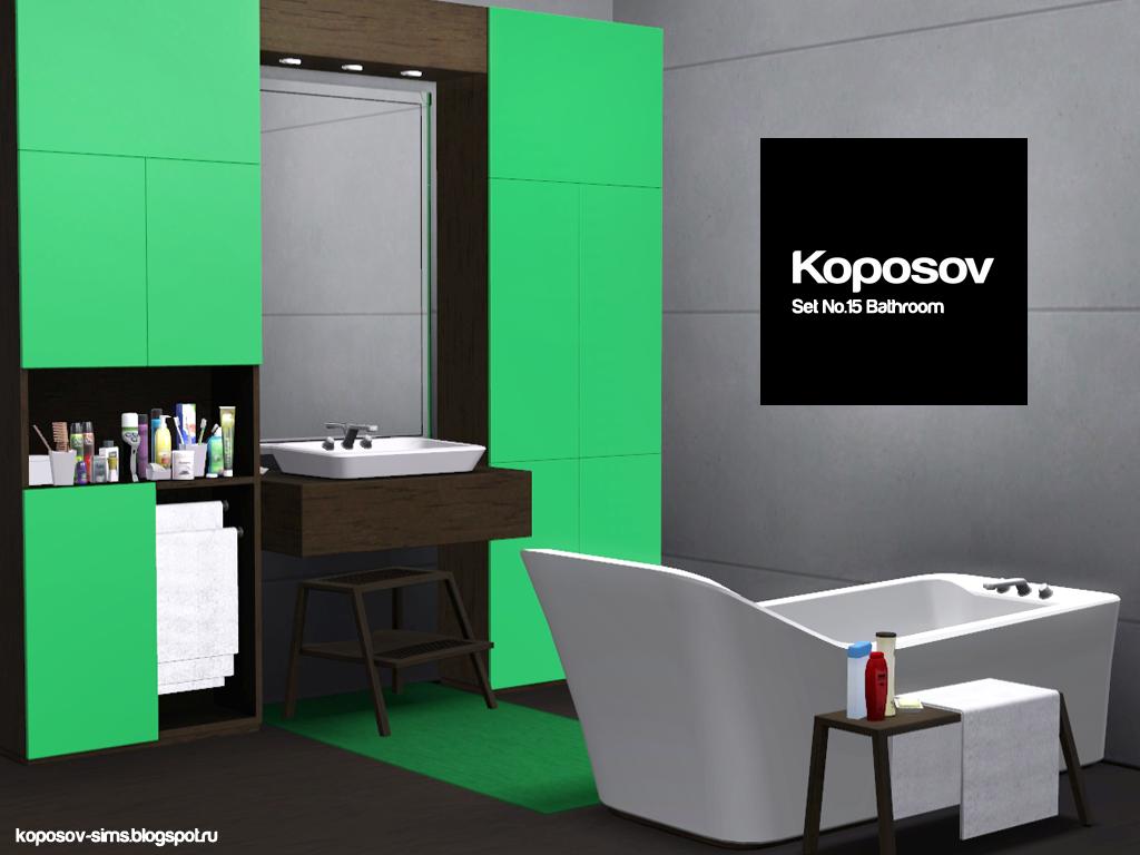 my sims 3 blog new bathroom set by koposov On new bathroom set