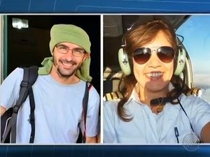 Fotógrafo Rui Rezende e piloto Ana Maira Moraes estavam em avião que caiu (Foto: Reprodução /TV Bahia)